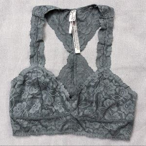 Free People Galloon Lace Racerback Bralette Size S